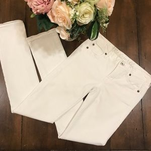 Madewell Rail Straight White Jeans